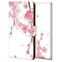 Zenfone Go ZB551kl ケース 手帳型 カバー 耐衝撃 スマホケース おしゃれ かわいい 純正 人気 花柄 全機種対応 桜の花 シンプル フラワー 3772422