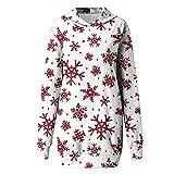 Boshivw Pull de Noël pour adolescentes et filles - Motif flocons de neige - Robe de Noël - Pull à capuche - Mini robe