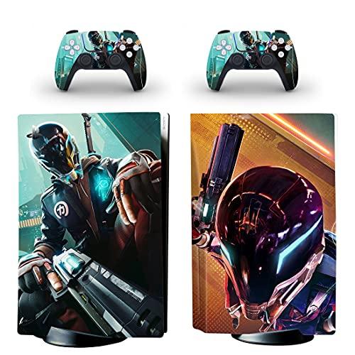 BELIVOR PS5 Skin para Hypers Scapes, esta serie PS5 Disk Skin tiene muchos tipos de patrones, PS5 Skins sirven para proteger la superficie de la consola Playstation 5 y 2 controladores