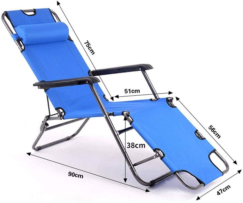 Folding Chair Portable Couch Chair Comfortable Leisure Nap Deck Chair