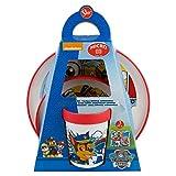 Paw Patrol - Set di stoviglie per bambini con piatto, ciotola e tazza
