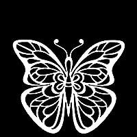 BJRHFN 創造的な美しい蝶の車のステッカーファッション車両の窓の装飾パーソナリティPVC貨物の防水ステッカー17 x 14 cm (Farbname : White, Größe : 17 x 14 cm)