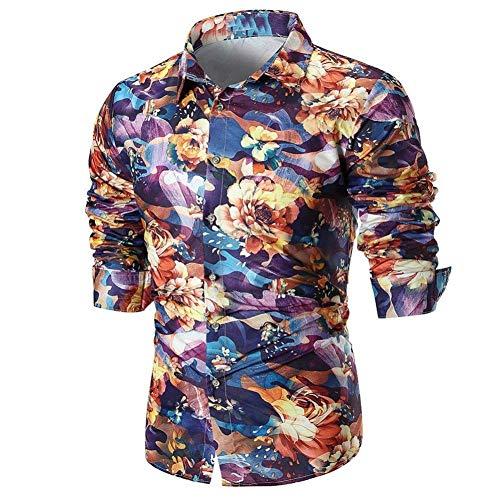 Heren T-shirt met lange bedrukking Chic Pullover herfst slank bovenstuk goed uitziend tops hoog ademende blouse V-hals