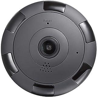 Mopoq Monitor Wireless WiFi HD Set Home Phone Fish Eye Monitoring Night Vision 360 Degree Panoramic Camera (Black) (Color ...