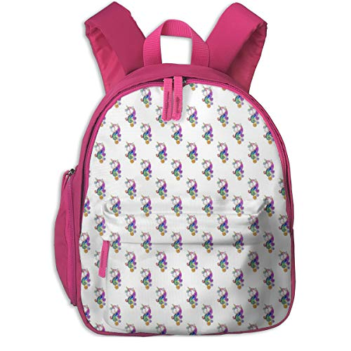 Zaino per bambini 2 anni,Unicorn Queen_4495 - theartwerks, Per scuole per bambini Oxford cloth (rosa)
