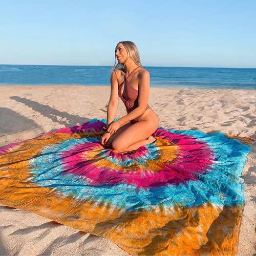 Flamingueo Tapiz de Pared Gigante - Mandala Gigante para Pared y Playa, Mandalas para la Pared, Mandala Playa, Toalla Gigante Playa, Tapiz Mandala, Toalla Mandala, Mandalas de Tela, 220x200 cm