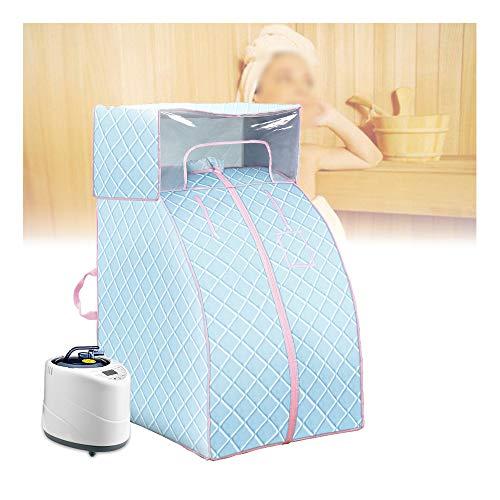 GJXJY Zuhause Dampfsauna, 2L Tragbarer Saunas Steamer, Folding Personal Saunazelt, Timer, 9 Einstellbare Temperaturniveaus, Fernbedienung, Zur Gewichtsreduktion, Ganzkörperentspannung, Detox