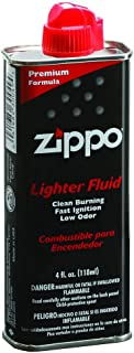 Zippo Unisex – Volwassenen Original f. Benzine aanstekers 125 ml met plastic ventiel, zwart, 1-pack