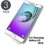 Le Destin Panzerglas Schutzfolie für Samsung Galaxy A3 2016, [3 Stück] Galaxy A3 2016 Panzerglasfolie,[Klar Glat][Anti-Kratzer][Anti-Bläschen], Bildschirmschutzfolie für Samsung Galaxy A3 2016