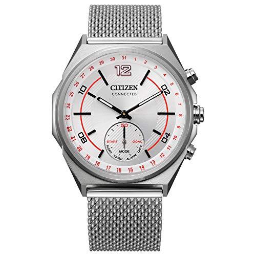 Citizen Reloj Analógico-Digital para De los Hombres de Eco-Drive con Correa en Acero Inoxidable CX0000-71A