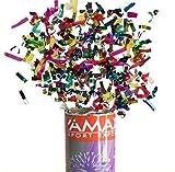 VIRSUS sparacoriandoli Colorati spara coriandoli Multicolore Cannone sparacoriandoli Varie quantità e Misure (6, 60 cm)
