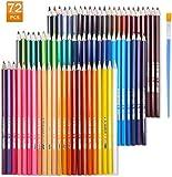 TOPERSUN Crayon de Couleur Aquarelle Numérotés Set de 72 Couleurs Aquarellables Uniques Pré-taillé pour Coloriage en Etui Carton Cadeau pour les Enfants et Artistes