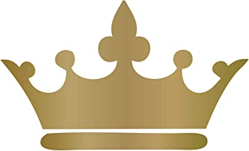 gold crown wall decal