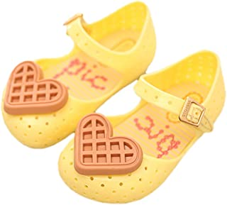 iFANS Kids Cute Biscuit Jelly Boys Girls Shoes Non-Slip Soles Toddler Sandals