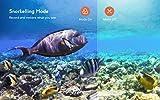 COOAU Native 4K 60fps 20MP WiFi Action Cam Sportkamera mit 8XZoom verbessertem EIS Stabilisierung 40M Wasserdicht Unterwassergehäuse 170° Verstellbares Weitwinkel Externes Mikrofon 2x1350mAh Batterien