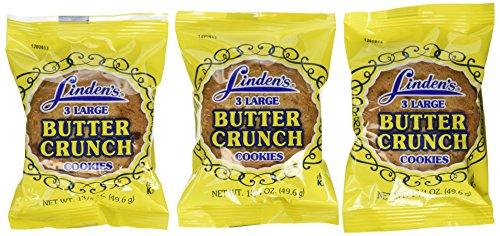 Linden's Butter Crunch Cookies 3 Cookies Per Pack (18 -1.75 Oz. Packs Per Box)