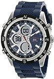 U.S. Polo Assn. Sport US9137 Reloj deportivo análogo digital con brazalete de silicona, azul, para hombre