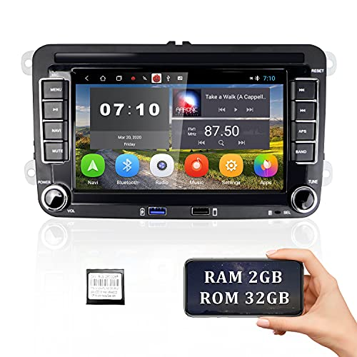 [2G+32G] Android Radio de Coche para VW GPS Navigation 7 '' Pantalla táctil capacitiva Bluetooth Car Stereo WiFi FM Radio Receptor USB para Golf Polo Touran Tiguan Seat Altea