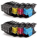 Bramacartuchos - 20 X Cartuchos compatibles Brother Lc1220XL, Lc1240XL, Lc 1240Xl, LC 1220XL NON OEM, Brother DCPJ525W, DCPJ725DW, MFC J430W, MFC J625DW, MFC J825DW, MFC J5910dw, MFC J6510DW, MFC J6710DW, MFC J6710, MFC J6910DW