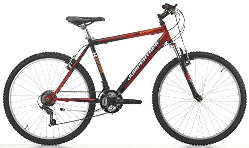 Cicli Cinzia Bicicletta 26' MTB X-Trail Uomo 18/V Revo Shift V-Brake Alluminio, Moll.Ant Nero/Rosso