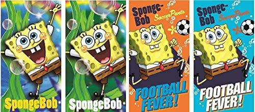 Bob l'éponge Spongebob - Juego de 4 toallas (65 x 35 cm), diseño de Bob Esponja