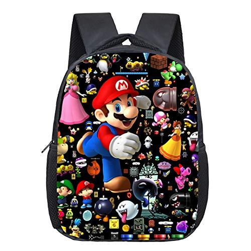 FENGHUO super Mario Rucksack Cartoon Super Mario Rucksack Süße Tasche Kindergarten Kinder Rucksack Schöne Muster Jungen Mädchen Rucksack