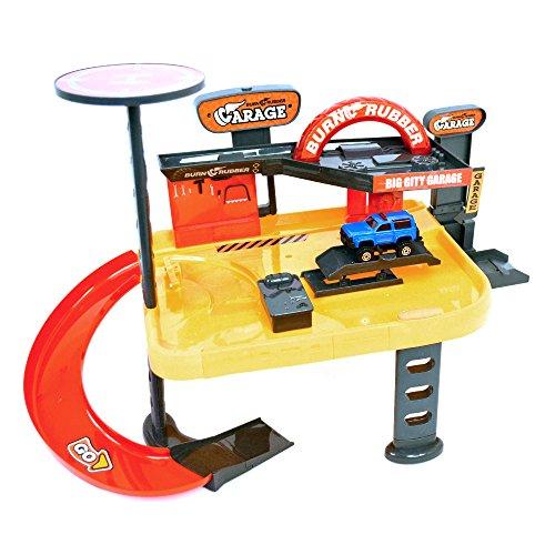 Wonder Kids Wdk Partner - A1400127 - Véhicule Miniature - Garage 2 Niveaux + 1 Voiture