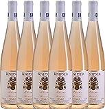 VINELLO 6er Weinpaket Roséwein - Clarette Rosé 2019 - Knipser mit Weinausgießer | trockener Roséwein | deutscher Sommerwein aus der Pfalz | 6 x 0,75 Liter