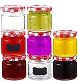 25 Tarros de Cristal Pequeños de 125 ml - Hermeticos - Con Tapa de Metal - Frascos para Conservas, Miel, Mermelada