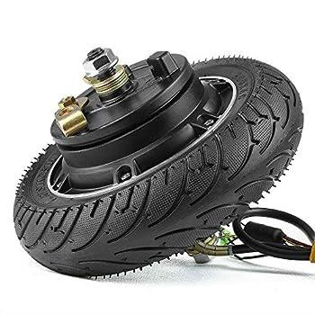HULKWHEELS 8 inch 24V 36V 48V 350W 500W Electric Scooter Brushless Hub Motor Toothless Wheel Motor for E-Scooter E-Bike Skateboard DIY Part with 200x50 Airless Tire Drum Brake  36V 500W