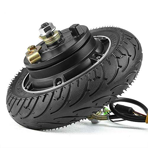 HULKWHEELS 8 inch 24V 36V 48V 350W 500W Electric Scooter Brushless Hub Motor, Toothless Wheel Motor, for E-Scooter E-Bike Skateboard DIY Part, with 200x50 Airless Tire Drum Brake (24V 350W)