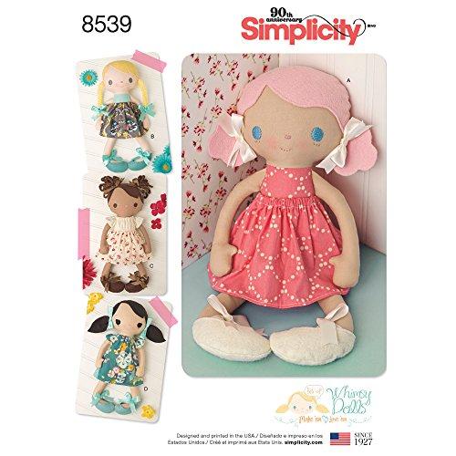 Simplicity US8539OS Pattern 8539 OS-Cartamodello per Bambole e Vestiti Imbottiti, 38 cm, Carta, Bianco, 22.00 x 15.00 x 1.00 cm