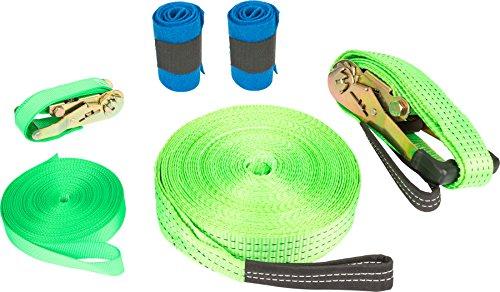 small foot Company 10476 - Juego de Slackline para jardín de Infancia (Incluye Protector para árboles y Cuerda de Seguridad, hasta 80 kg)