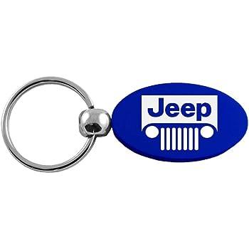 Jeep Logo Black Valet Key Chain INC Au-Tomotive Gold