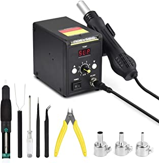 Hot Air Rework Station Kit with Digital Display Heat-Gun SMD Rework Station for BGA IC Desoldering Tool 700W 500°C