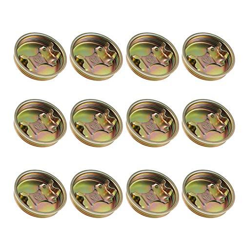 VILLCASE 12 unids tapón de hierro tapón tapón químico botella cubo tornillo en tapa anti salpicaduras tapas de metal pieza de repuesto para tambores de polietileno