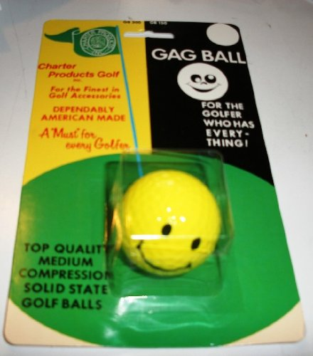 Charter Smiley Face Gag Ball for The Golfer who has Everything