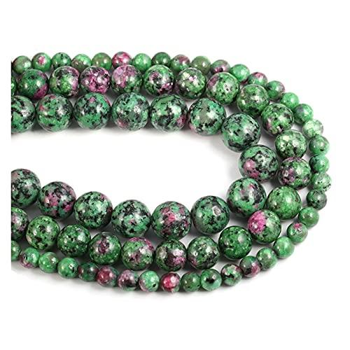 Joyas para mujeres Cuentas de piedra natural 4/6/8/10 / 12mm Bola redonda Perlas sueltas BRICOLAJE Elegante collar pulsera joyería haciendo al menos comprar cinco Collar de cuentas de arte.