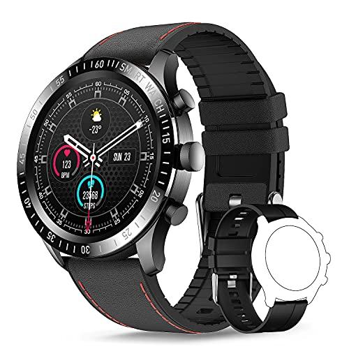 TagoBee Smartwatch Hombre,Reloj Inteligente Hombre Mujer con 1.3  Táctil Completa, Pulsómetro Presión Arterial Monitor de Sueño IP67 Impermeable Podómetro Relojes Inteligentes Hombre para Android iOS