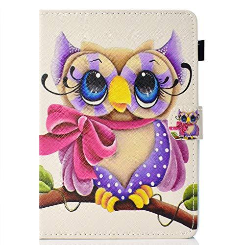 Coopay Universal Hülle für 10 Zoll,Prägen Bunt Panda Schmetterling Blumen Muster Standfunktion Lederhülle,Flip Lightweight Etui Tasche Case Cover Schutzhülle kompatibel mit Samsung Huawei 10