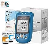 misuratore di glucosio nel sangue e acido urico 2 in 1 multifunzione test del diabete test dell'acido urico 50 striscia reattiva glucosio sangue +25 carta test dell'acido urico + 100 lancetta,mg/dl