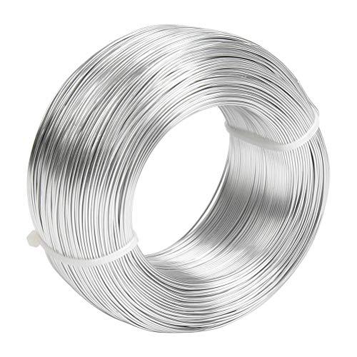 N\A YANSHON 1mm Alambre de Aluminio Manualidades Plateado de 230m Alambre Artesanal para Joyeria Fabricacion de Artesania, Rebordear Floral, Joyas, Abalorios