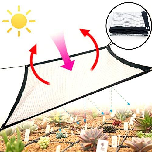 Zhangzhiyua lampenkap, aluminiumfolie, zilverkleurig, schaduw, net, balkon, buiten, tuin, vetplanten, afdekking, schaduw (keuze uit verschillende maten)