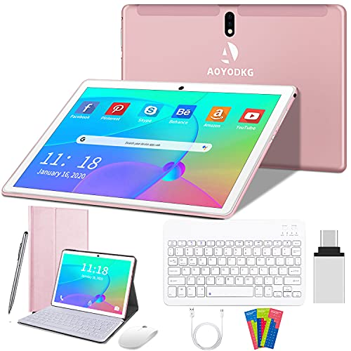 10 Inch Android 10 Tablet,4G Dual Sim Card,Quad-Core Unlocked Tablets with...