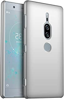 Sony Xperia XZ2 Premium ケース 手触り良い 耐衝撃 滑り落ちにくい 指紋防止 レンズ保護 カバー(シルバー)