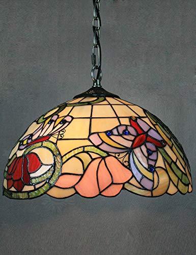 12 Pulgadas Vintage Pastoral Marrón Rústico Mariposa Lámpara de Techo Lámpara Colgante Sala de estar Luz Interior Lámpara