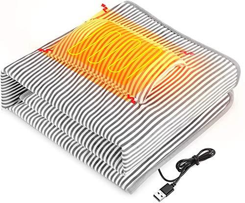 QcoQce Coperta Riscaldante USB,Mini Coperta 140 * 90 cm Lavabile, Facile da Trasportare,...