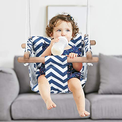Costzon Kids Classic Swing, Baby Canvas Hanging Swing Seat, Toddler Secure Indoor...