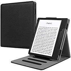 Fintie Flip Case for Kindle Oasis (10th and 9th Gen, 2019 & 2017 Release) - Multi Angle Hands Free Viewing Stand Cover (Auto Wake Sleep Function for 2017 Version Only, Not for 2019 Version), Black