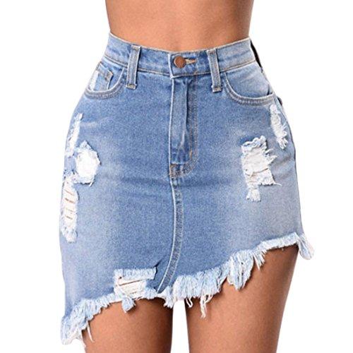 Inlefen Sra. Temporada de Verano Apretado Cintura Alta Pantalones Cortos de Mezclilla Jeans Pantalones de Playa Pantalones Cortos Casuales Bolsillos